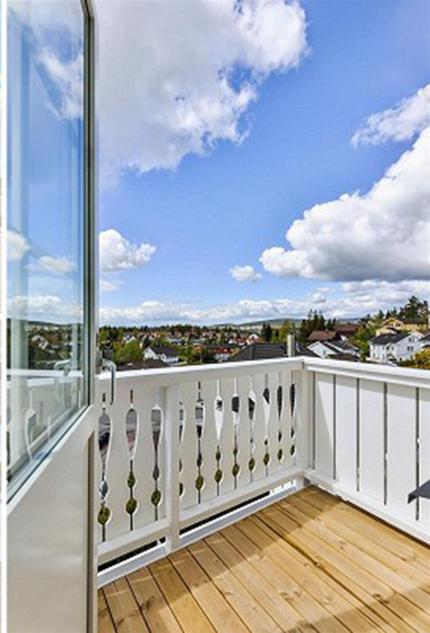 Utsikten fra vår nye terrasse